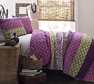 Royal Empire 3-Piece Plum Quilt King Set by Lush Decor - H287253
