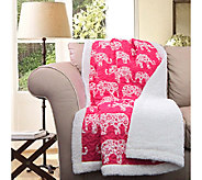 Elephant Parade Pink Sherpa Throw by Lush Decor - H287553