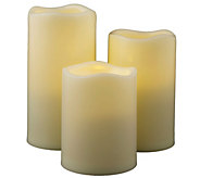 Pacific Accents Set of 3 Graduated Melted ResinCandles - H287953