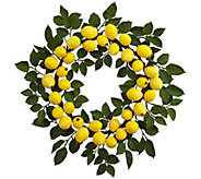 24 Lemon Wreath by Nearly Natural - H297053