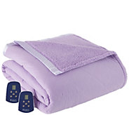 Shavel Micro Flannel Reverse to Sherpa Queen Electric Blanket - H301953