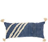 Studio NYC Diagonal Texture Blue 13 x 33 Throw Pillow - H302453