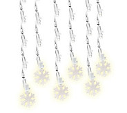 60-Count Pure White Snowflake LED Icicle Lights - H352053