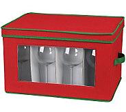 Household Essentials Holiday Stemware Chest - Balloon Glass - H368353