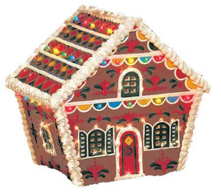 Gingerbread House Outdoor Decoration — QVC.com