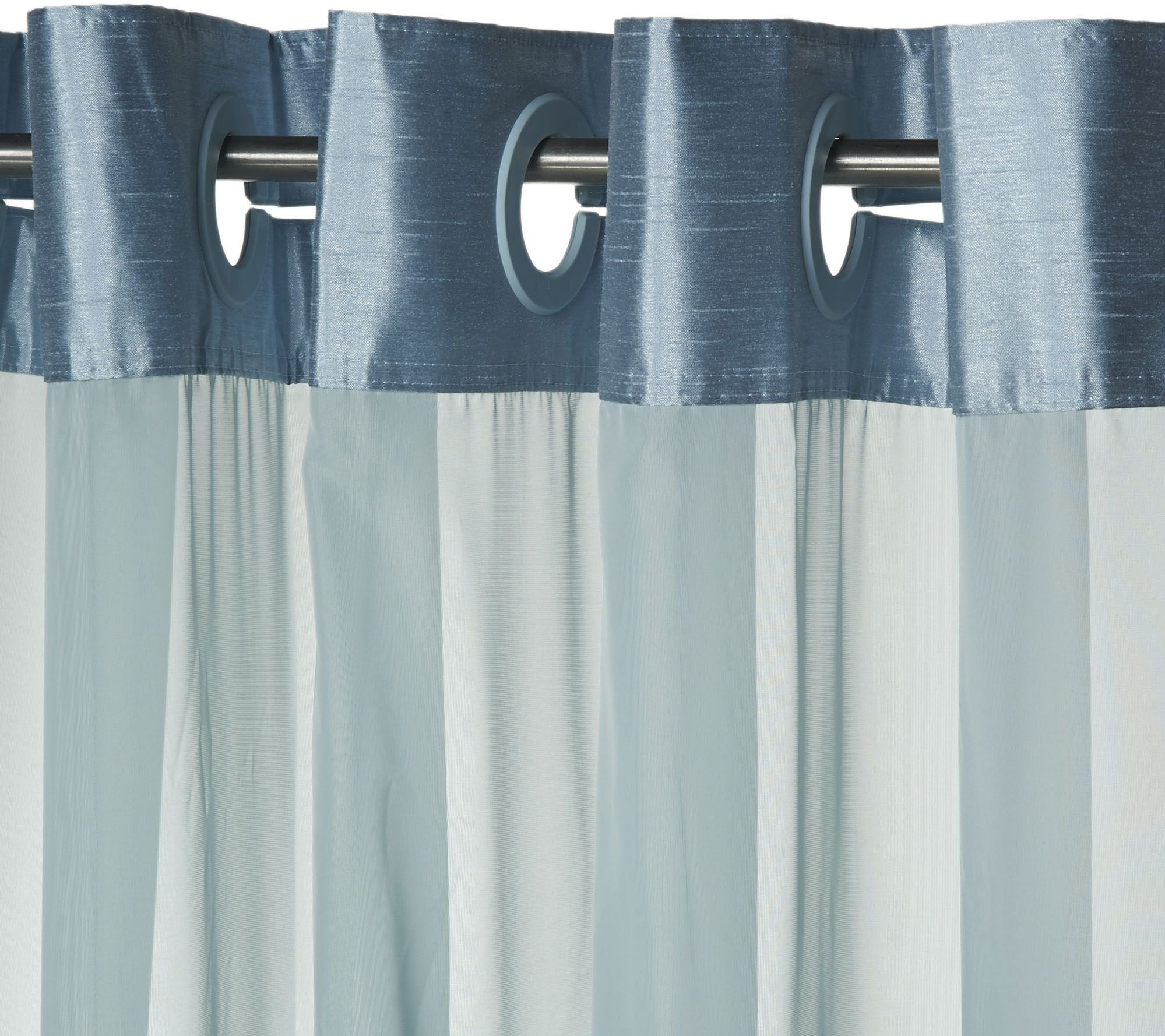Hookless Pintuck Pleated 3 in 1 Shower Curtain - Page 1 — QVC.com
