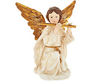 Glistening Angel Holding Instrument by Valerie - H212454