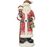 15.5 Glistening Santa with Birdhouse by Valerie - H212455