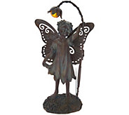 Indoor/ Outdoor 17 Solar Metal Angel w/ Flower by Valerie - H213555