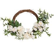 Casa Zeta-Jones 24 Illuminated Spring Floral Wreath - H215155