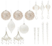 Inspire Me! Home Decor Assorted 14-pc Glam Collection Ornament Set - H217055