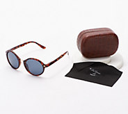 Neox Round Folding Sunglasses with Case by Lori Greiner - H219655