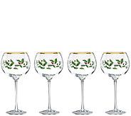 Lenox Holiday Set of 4 Balloon Glasses - H286855