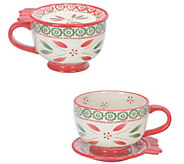 Temp-tations Old World Set of (2) 20-oz Mugs - H303255