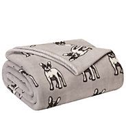 Elite Home Products Holiday Print Full/Queen Blanket - H307355