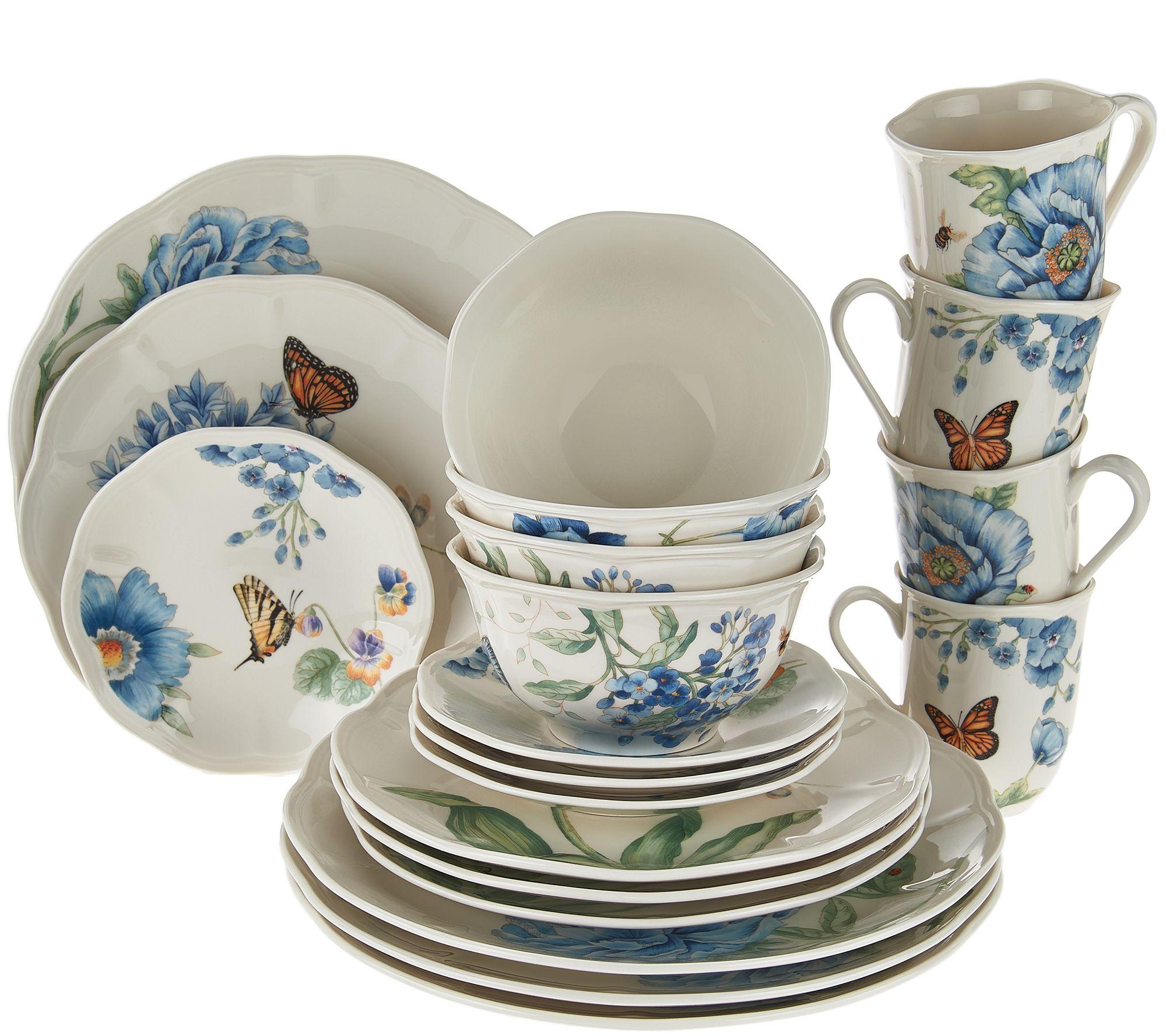 Porcelain Dinnerware Set - Page 1 u2014 QVC.com  sc 1 st  QVC.com & Lenox Butterfly Meadow 20-pc. Porcelain Dinnerware Set - Page 1 ...