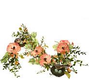 4 Poppies with Bird Garland - H210856