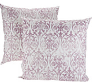 Casa Zeta-Jones Set of 2 Micro Suede Vintage Damask Pillows - H215756