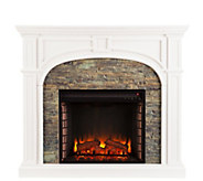 Trefny Stacked Stone Fireplace - H291056