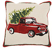 Mina Victory Tree on Truck Multicolor 18 x 18Throw Pillow - H301656