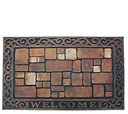 Welcome Stones Printed Flocked Doormat with Nonslip Back - H313656