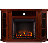 Adrian Convertible Media Electric Fireplace - Cherry Finish - H354656