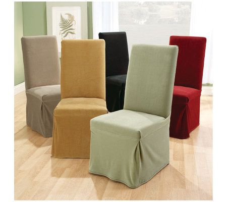 Stretch Dining Room Chair Slipcovers sure fit set of 2 stretch pique dining room chair slipcovers - page