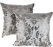 Casa Zeta-Jones Set of 2 Metallic Damask Pillows - H215757