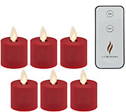 Luminara Set of (6) Soft Touch Tealights with Remote - H216057