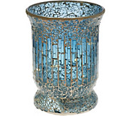 8 Glass Mosaic Tiled Vase with Micro Lights by Valerie - H208958