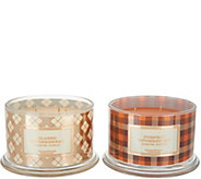 HomeWorx by Harry Slatkin Set of 2 Gingerbread 4-Wick Candles - H216058