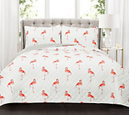 Kelly Flamingo 3-Piece King Quilt Set by Lush Decor - H298158