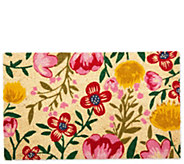 Bright Blossom Natural Coir Doormat with  Nonslip Back - H313558