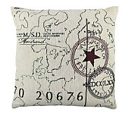 Vintage House World 18 x 18 Tapestry Pillow - H356758