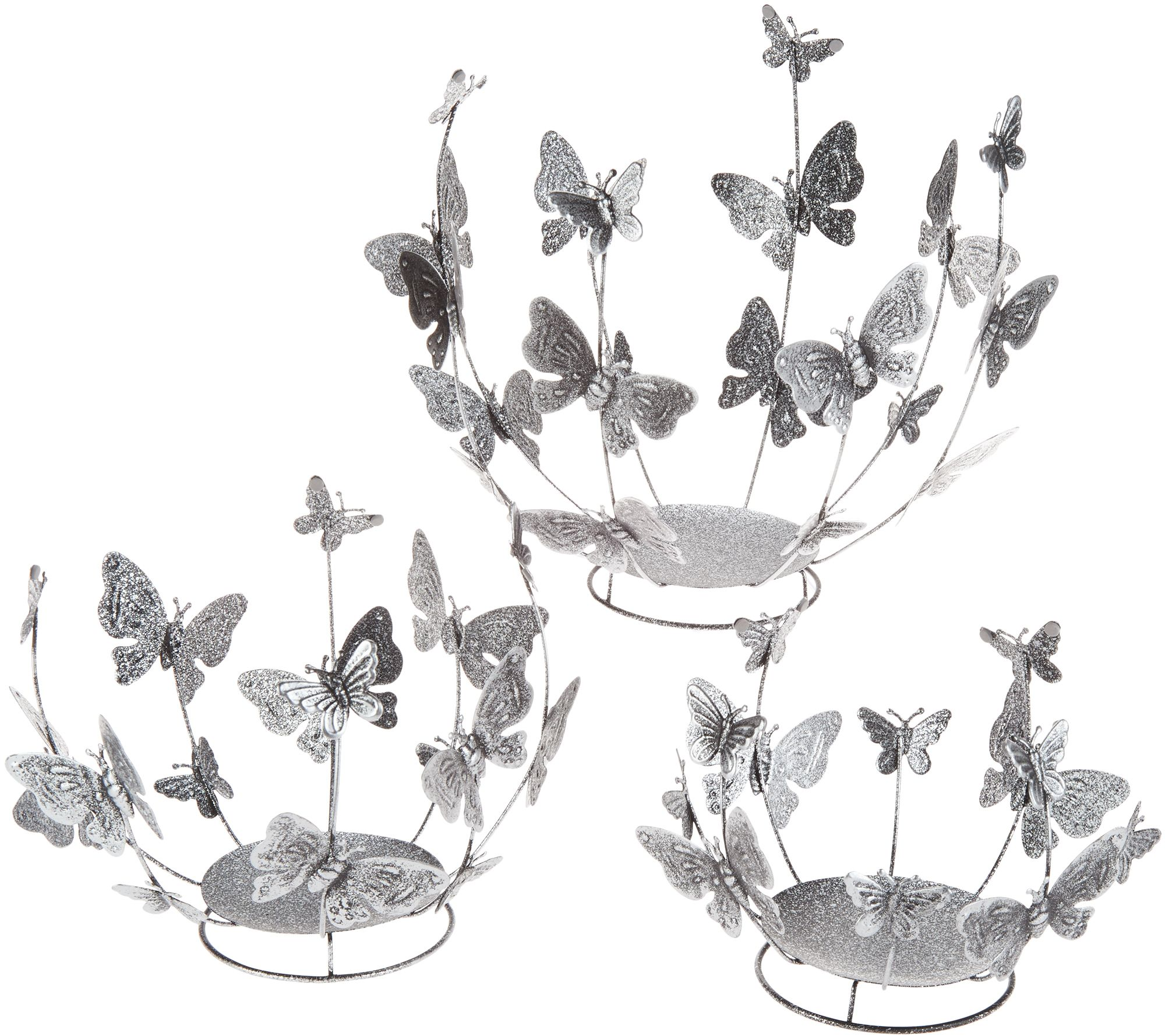 3b1491389c82 Set of 3 Graduated Butterfly Sphere Holders by Valerie - Page 1 — QVC.com