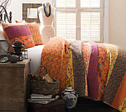 Royal Empire 3-PC Tangerine Full/Queen Quilt Set by Lush Decor - H287259