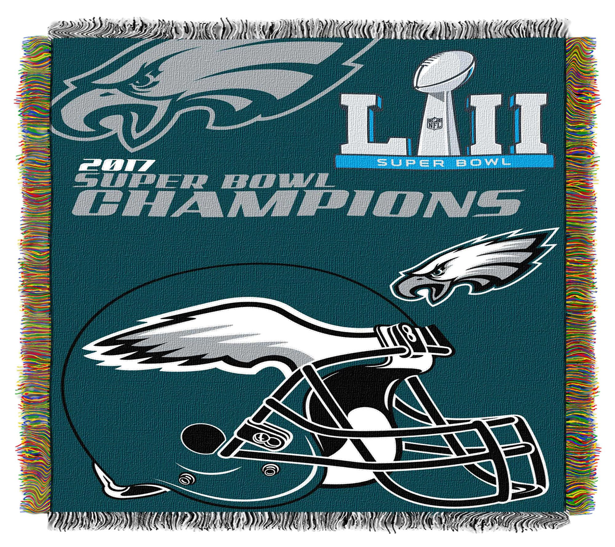 23ce03be855 NFL Super Bowl LII Philadelphia Eagles Tapestry Throw — QVC.com