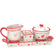 Temp-tations Old World Sugar and Creamer Set with Tray - H303259