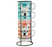 American Atelier 5-Piece Pet Stackable Mug Set - H308259