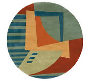 Momeni New Wave Abstract 79 Round Handmade Wool Rug - H161760