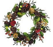 As Is 19 Beaded Fruit Wreath by Valerie - H210760