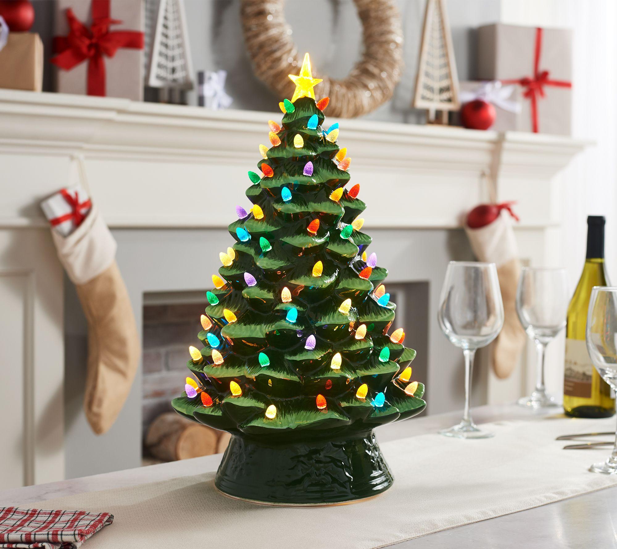 mr christmas 17 oversized illuminated plug in nostalgic tree page 1 qvccom