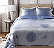 Casa Zeta-Jones Two Tone Medallion Full Comforter w/ Shams - H213160