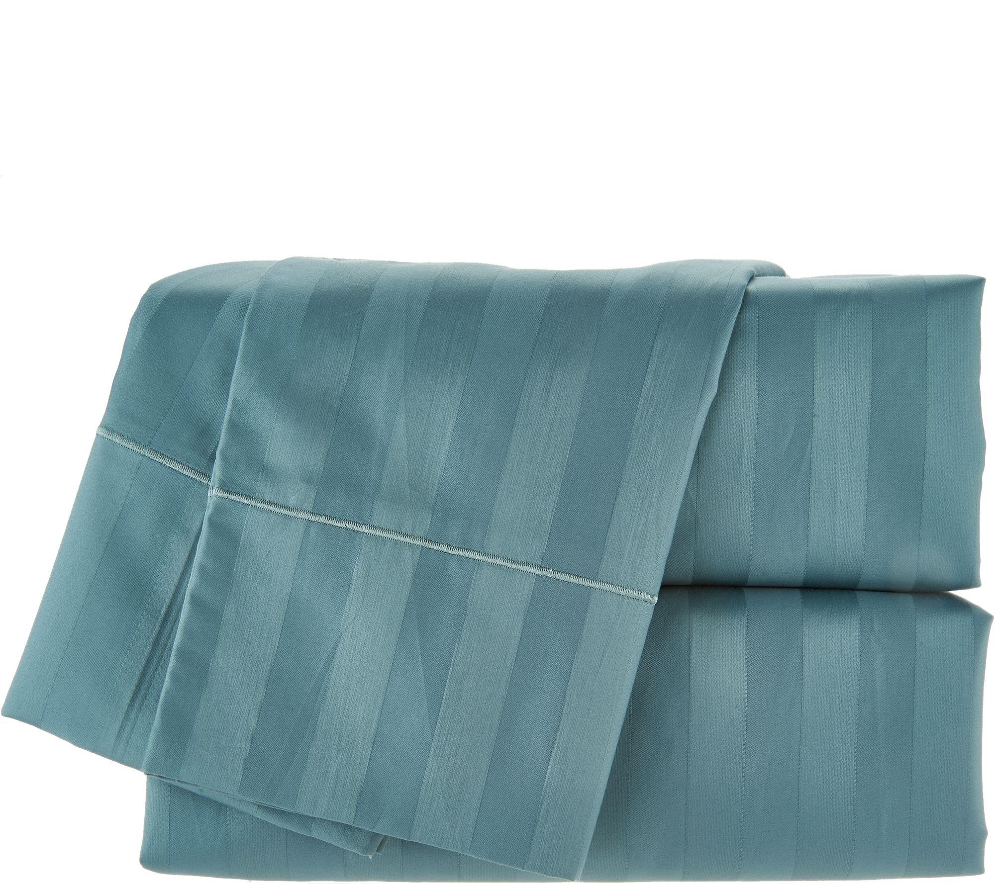 Wamsutta 500tc 100 Pimacott Dobby Stripe Qn Sheet Set