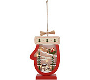 Plow and Hearth Illuminated Wooden Holiday Icon with Timer - H215960