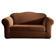 Sure Fit Stretch Pique Separate-Seat Love SeatSlipcover - H145361