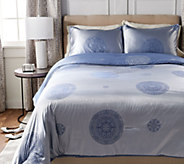 Casa Zeta-Jones Two Tone Medallion Queen Comforter w/ Shams - H213161