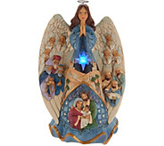 Jim Shore Heartwood Creek Lighted Nativity Angel with Music - H216361