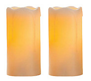 Candle Impressions Set of Two 6 Flameless Pillar Candles - H283961