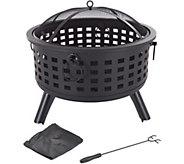Pure Garden 26 Round Metal Fire Pit - H293061